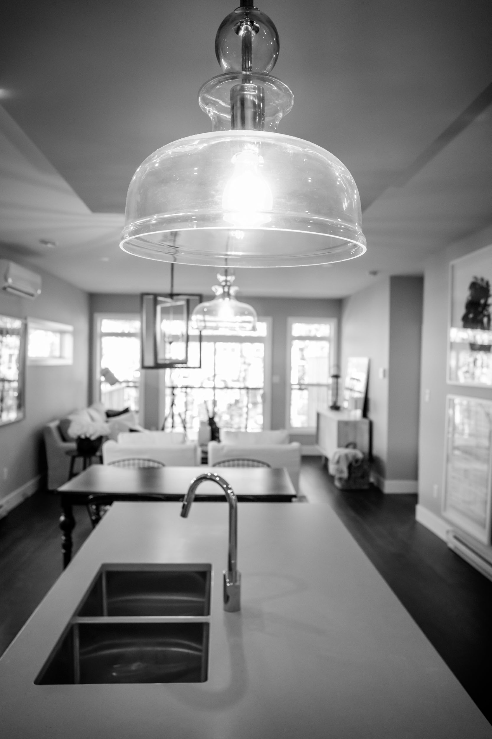 Henderson Electrical carefully considers the smallest design details - for example the careful placement of pendant lighting so no one bumps their head.